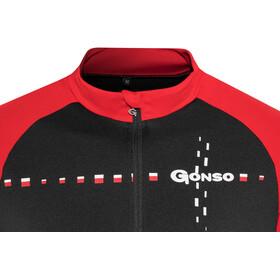 Gonso Warthe Fietsshirt korte mouwen Heren rood/zwart